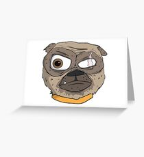 One Eyed Pug  Greeting Card