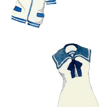 Conjunto de adhesivo Nagi No Asukara Uniform de ichigobunny
