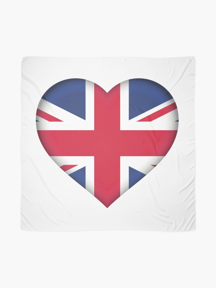 Alternate view of United Kingdom Flag Scarf