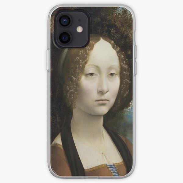 Ginevra de' Benci- Leonardo da Vinci  iPhone Soft Case