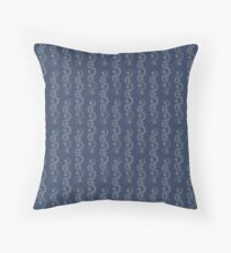Blue and White Waves Floor Pillow