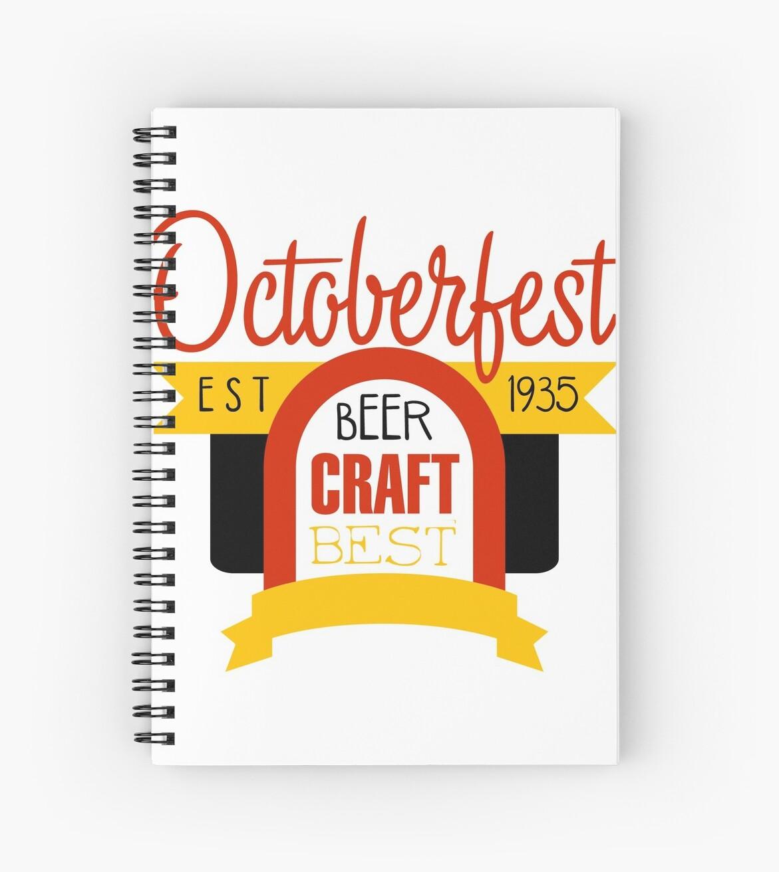 oktoberfest logo design template spiral notebooks by topvectors