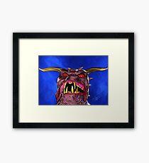Demon Dawg Framed Print