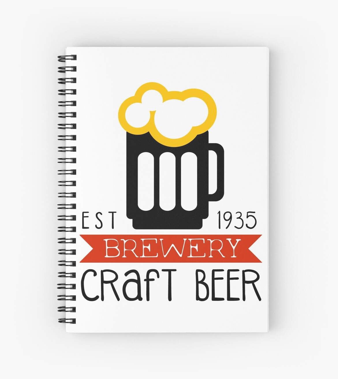 craft brewery logo design template spiral notebooks by topvectors