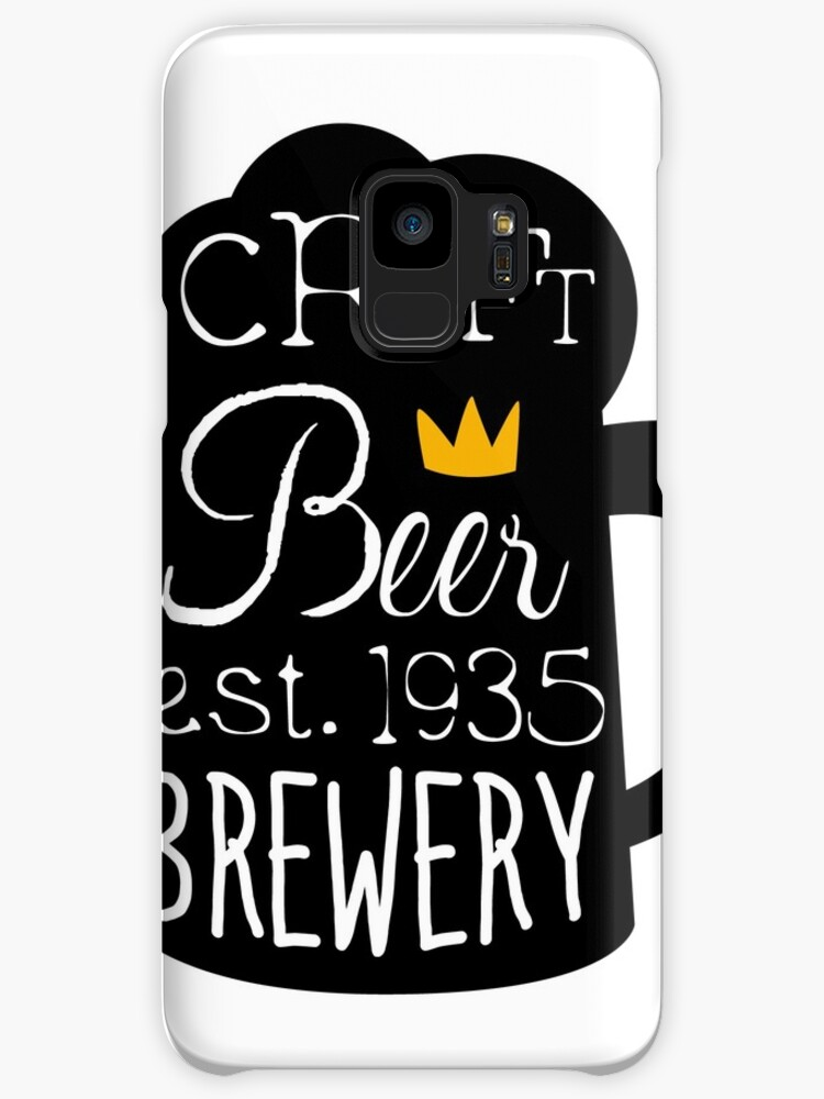 Craft Beer Logo Design Template With Pint Silhouette Cases Skins