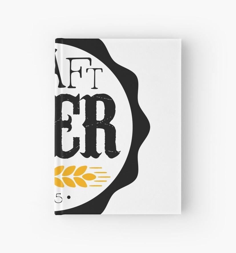 craft beer round logo design template hardcover journals by