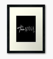 Tea & Yoga Framed Print