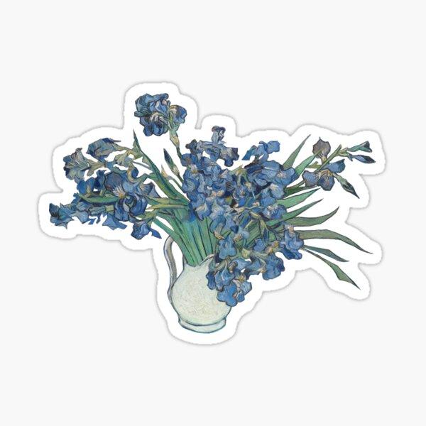 Klassische Kunst - Vincent Van Gogh Iris Malerei Sticker