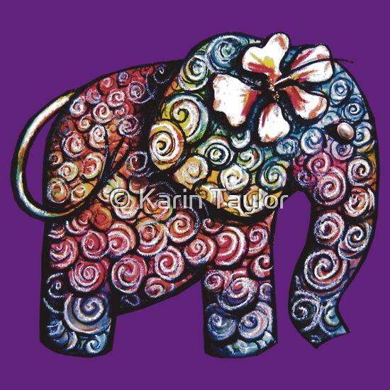 TShirtGifter presents: Tattoo Elephant TShirt