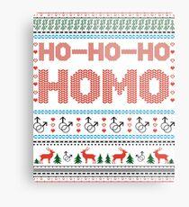 Ho-Ho-Ho- Homo Gay Christmas Metal Print