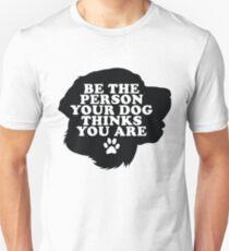 Camiseta ajustada Sé la persona que tu perro piensa que eres Labrador