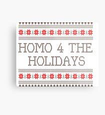 Homo 4 The Holidays Gay Christmas Metal Print
