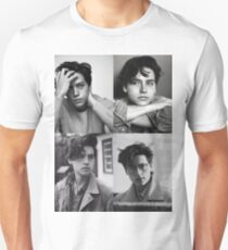 Cole Sprouse Collage B&W Slim Fit T-Shirt