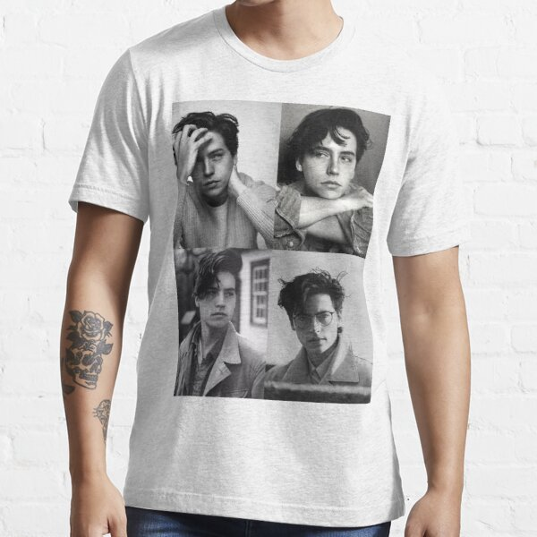 Cole Sprouse Collage B&W Essential T-Shirt