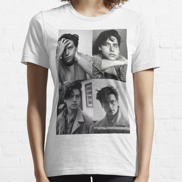 Cole Sprouse Collage B & W Camiseta esencial