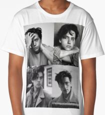 Cole Sprouse Collage B&W Long T-Shirt