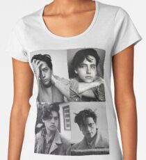 Cole Sprouse Collage B&W Women's Premium T-Shirt