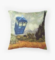 Vincent and the Doctor Throw Pillow