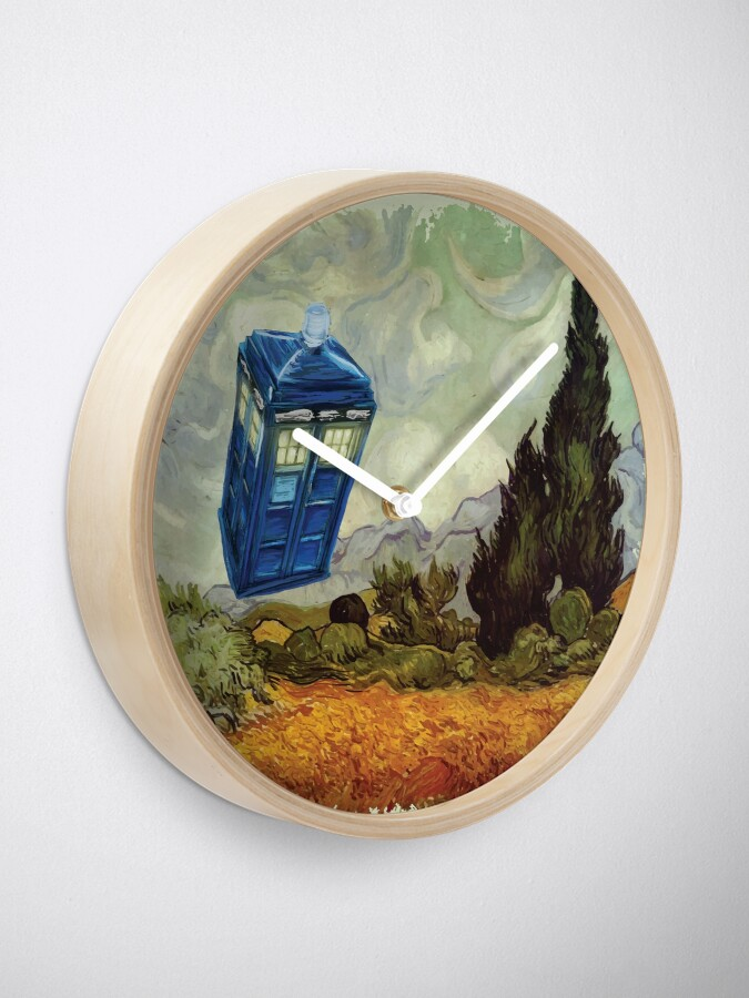 Alternate view of Vincent and the Doctor Clock