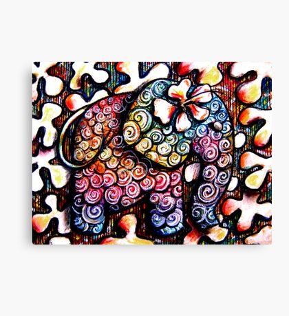 Tattoo Elephant  Canvas Print