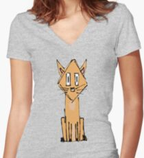 Pretty Kitty Women's Fitted V-Neck T-Shirt
