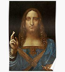 Da Vinci Salvator Mundi Poster