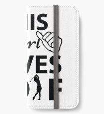 This Girl Loves Golf iPhone Wallet/Case/Skin