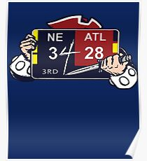 New England Patriots / Ultimate Comeback 28-3 Poster