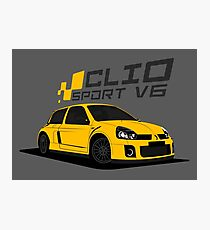 Renault Clio V6 (Yellow) Photographic Print