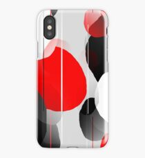 Modern Anxiety Abstract - Red/Black/Gray/White iPhone Case