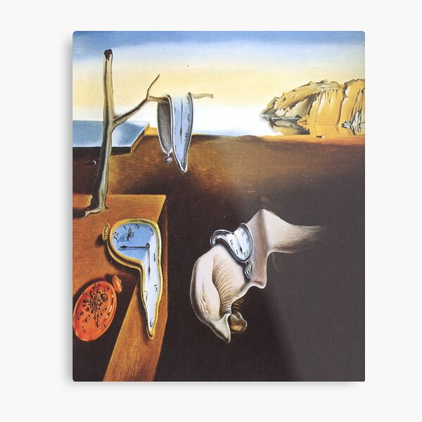 The Persistence of Memory-Salvador Dalí Metal Print