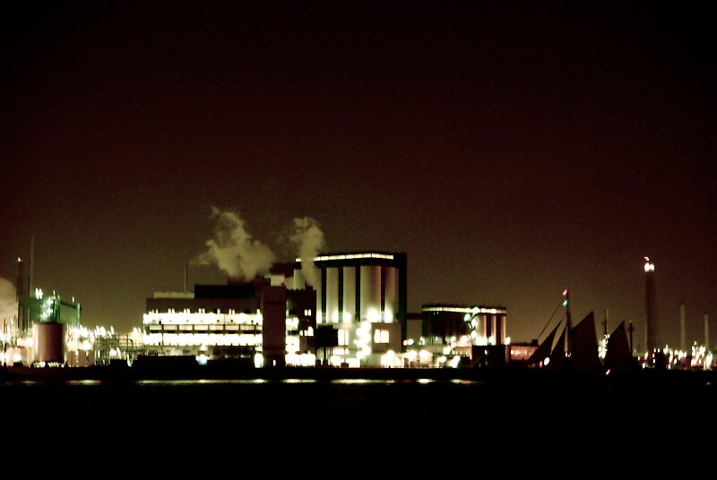 Industrial Nightscape I by Bojoura Stolz