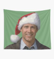 Clark Griswold National Lampoon's 1989 Christmas Vacation movie santa hat Wall Tapestry