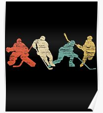 Classic Vintage Style Ice Hockey Poster