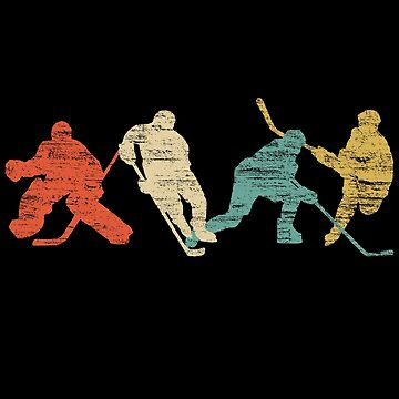 Classic Vintage Style Ice Hockey by priny