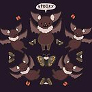 Some Spooky Bats  by Rayne Karfonta