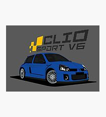 Renault Clio V6 (Blue) Photographic Print