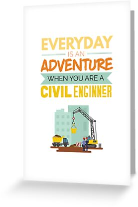 Everyday Is An Adventure Civil Engineer Funny