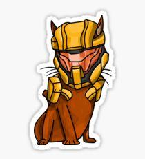 Halo Spartan Davis Cat Sticker