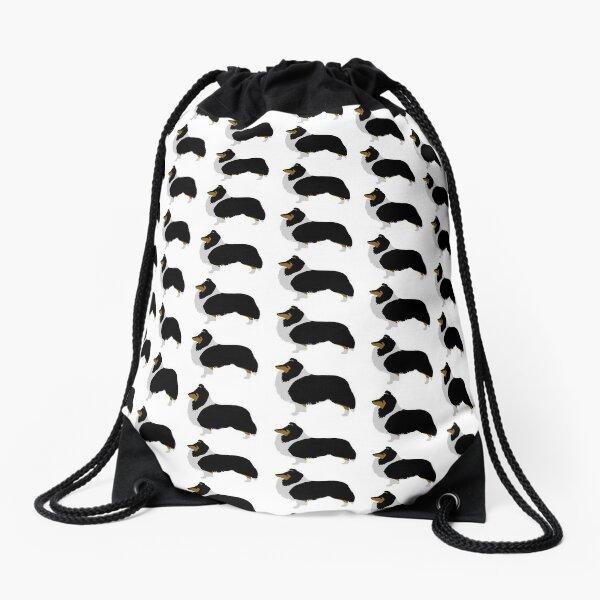 Shetland Sheepdog (tri) Drawstring Bag