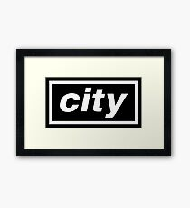 City - OASIS Spoof Framed Print
