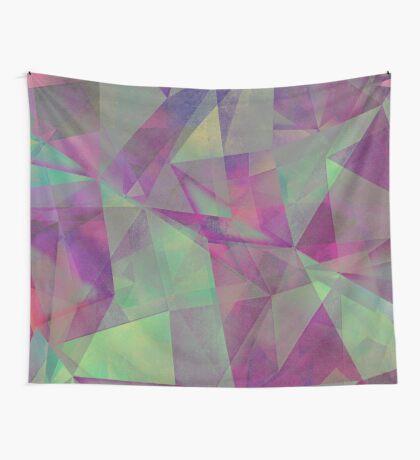 triangles green purple #pattern #decor Wall Tapestry