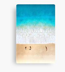 Australian Beach Cricket - Aerial Canvas Print