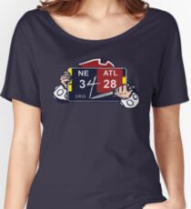 New England Patriots / Ultimate Comeback 28-3 Women's Relaxed Fit T-Shirt