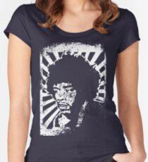 Jimmi Hendrix Lino Print Women's Fitted Scoop T-Shirt