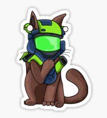 Halo Operator Cat Sticker