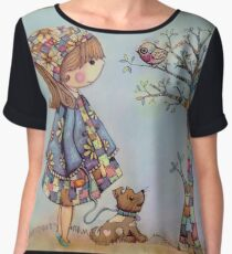 The Patchwork Tree Chiffon Top