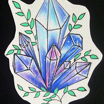 Healing Crystals Tattoo Flash by JABK