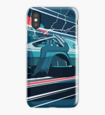 Delorean In Flight iPhone Case/Skin
