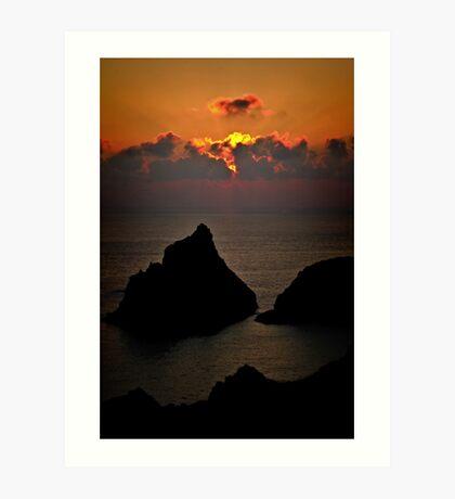 Kynance Sunset Art Print